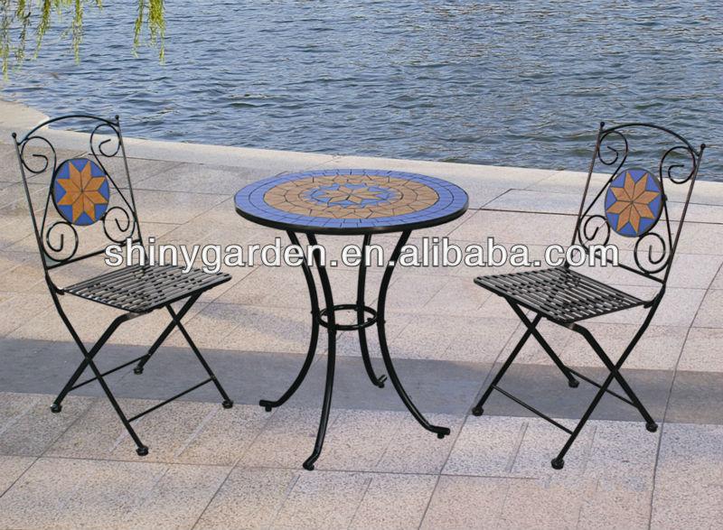 frohe weihnachten outdoor 3 st ck falten metall bistro set. Black Bedroom Furniture Sets. Home Design Ideas