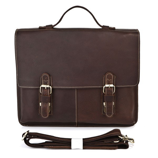 Drop Shipping Top Grade Multifunctional Fashion Vintage Style Crazy Horse Leather Messenger Bags With Laptop Compartment #7090R