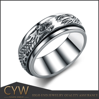CYW new arrival hand made attractive design tai silver rings buy now jewellry