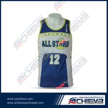 custom sublimation basketball shirts