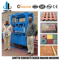 LMT4-28 China top quality used concrete cement block brick making machine manufacture factory in Africa for sale