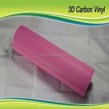 Best Seller 3D Carbon with air bubble 1.52x30m 3M Quality Pink 3D Carbon Fiber Car Wrap Vinyl Sticker