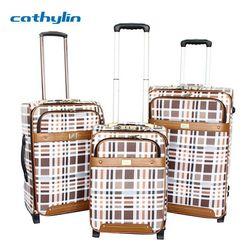 Trolley PU leather luggage case four wheels super light luggage