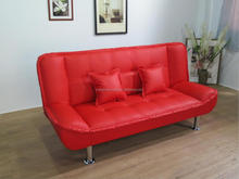 Home Furniture Modern Promotion Folding Leather Futon Sofa Bed Sleeper