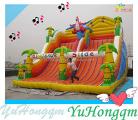Cheap And Giant Inflatable Dinosaur Bouncer Slide For Adult Jumping Slides