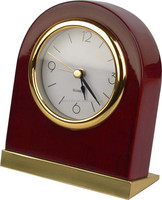 Custom mahogany hotel wood table clocks with light