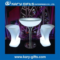 2015 LED Furniture LED Bar Table Rechargeable LED Table