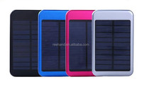 Portable solar power bank/solar mobile phone battery charger Monocrystalline silicon panel 5000mAh for huawei/htc