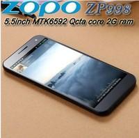 "ZOPO ZP998 MTK6592 Octa Core Phone 5.5"" IPS 1920x1080 2G RAM 16G ROM Android Smart Mobile Phone ZOPO ZP998 Black White GPS NFC"