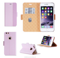 Hot Selling New Product Premium PU Leather Flip Case Cover With Card Slots for iPhone 6 and iPhone 6s plus