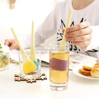 China wholesale market FDA silicone feature brush shape bulk tea infusers