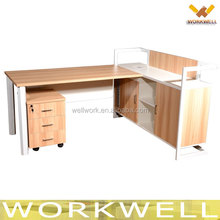 WorkWell Office furniture supply modern classic cherry wood single seat office desk with drawer Kw-Z32