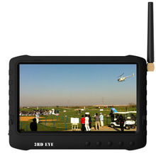 "new product 5"" hd lcd portable 32chs 5.8Ghz wireless FPV monitor dvr with sun shade work with immersion RC and fatshark"