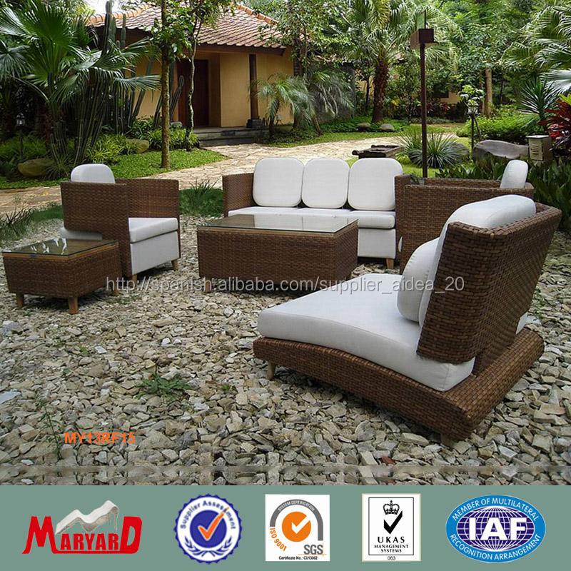 Lujo muebles de jardin mimbre ratán sofá diseño-Sofás de jardín ...
