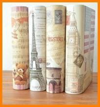 zakka groceries England series storage box tin jewelry fashion home decoration props classical book