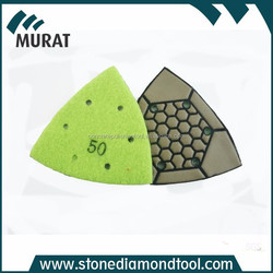 The triangle grinding pad dry flexible grinding pads for concrete