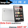 Best 10 inch A83T Octa core tablet pc 2GB 16GB 1024*600 tablet pc