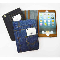 Jeans Cloth Smart Case Cover for Apple iPad2/3/4