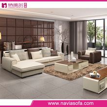 Foshan factory wholesale new fashion sofa sets design modern fabric corner sofa for living room
