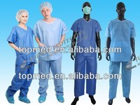 colorful disposable nonwoven/sms SBPP Child's patient gown for hospital
