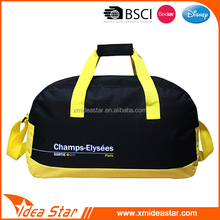 Black and yellow new arrival handbag stylish leisure gym sports bag