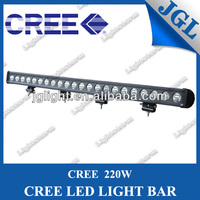 """one row cree led light bar 220w led light bar 40"""" with 12 months warranty, IP67, CE, RoHS"""