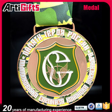 Factory direct sale cheap metal bronze embossed medal various colors