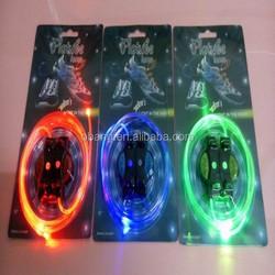 factory price beautiful glow shoelace/ led shoelace/ light up shoelace