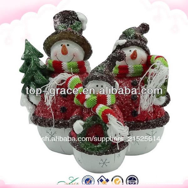 Resina de nuevo al por mayor del mu eco de nieve de - Adornos navidad por mayor ...