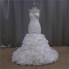 Sweetheart Beaded glamorous a-line tiered organza