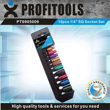 "10pcs 1/4"" CRV color coated SQ women tool kit"