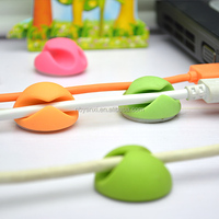 hot sales round two holes cable holder high quality multipurpose adhesive organizers
