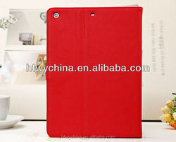 China Supplier Hot Sale Protective Fancy Leather Cover For iPad Air with Free Logo