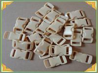 "khaki side release plastic buckles for dog collar 5/8"""