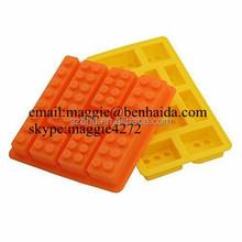 Hot sell New Brand Block Brick FDA Silicone Ice Cube Jelly Chocolate Cake Mold