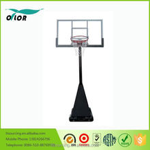 Wholesale movable screw jack lift adjustment mechnism deluxe portable 10' basketball stand