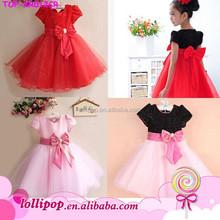 2015 Charming princess child dress lovely girls' dress cute birthday dress for baby girl