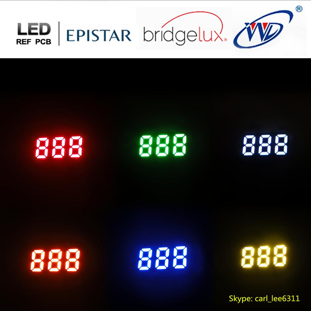 0.25 inch small 7 segment display ultra red 3 digit mini led 7 segment
