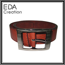 2015 Latest Design Fashion Style Cheap PU fanshion Man Belt with laser buckle