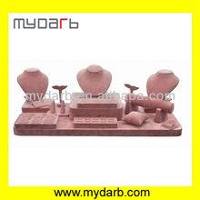 Pink Velvet Jewelry Display Stand