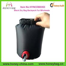 Black Outdoor Shower Bag 100% Waterproof Travel Dry Bag Heat Camper Shower bag