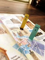 colorful landmark style sticky memo
