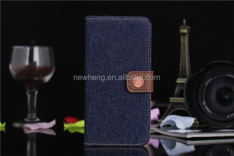 Fashionable Jeans luxury leather case for iPhone 6 F-IPH6LC001