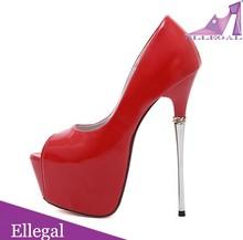 metal high heels, super high heel platforms, lady thin theel shoes