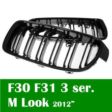 On Sale Shiny Black M3 look Double slat for BMW F30 grill 3 series 2012 2015