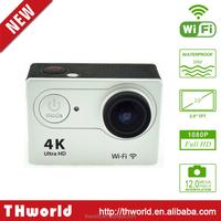 H9 4K waterproof mini digital sport camera with 1050mAh battery action camera