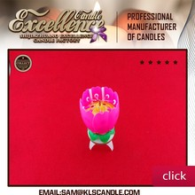 Auto music Birthday candle/ fireworks birthday candle lotus flower