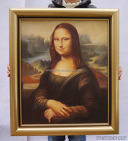 100% handmade high quality famous painting reproduction oils on canvas ,Mona Lisa by Leonardo da Vinci Stock Art