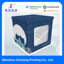 Food Grade Heightening White Cardboard Birthday Paper Cake Boxes with Window