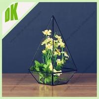 Decorative flower clear glass vase manufacturer *** Modern style excellent quality antique flower jade vase